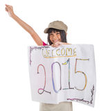 Welcoming New Year 2015 II Royalty Free Stock Photos