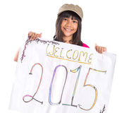 Welcoming New Year 2015 III Stock Images