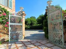 Welcoming open gate Royalty Free Stock Image