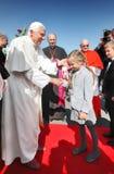Welcoming Pope Benedict XVI Stock Photos