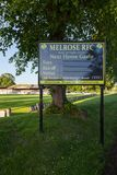 A Welcoming Sign to Melrose Rugby Union Club. A sign welcoming supporters to Melrose Rugby Union Club in Melrose, Scotland. The club prides itself as the home of stock images