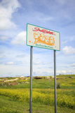 Welcoming sign to South Dakota. USA stock image