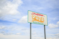 Welcoming sign to South Dakota. USA stock photo