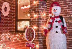 Welcoming Snowman Stock Image