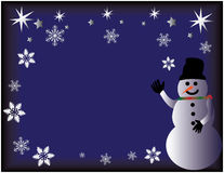 Welcoming Snowman Stock Images