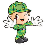 Welcoming a Soldier Character Stock Photos