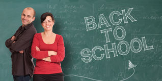 Welcoming teachers Royalty Free Stock Image