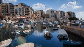Sunny morning on vacation. The picture was taken while traveling around Malta on the shore with its warm sean stock photo