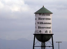 Welcoming Water Tower Stock Photos