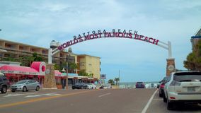 Welcomt aan Daytona Florida stock footage
