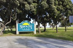 Welcone to Mission Bay Park, San Diego. Mission Bay Park is the largest man-made aquatic park in the country of California (USA), approximately 46% land and 54% stock photo