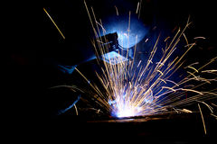 Weld. A man welding Royalty Free Stock Images