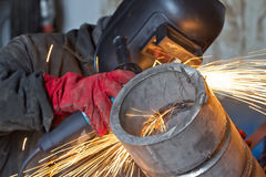 Free Weld Control Sample Of Thick-walled Stainless Steel Pipe Stock Photo - 67550470