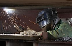 Weld and work Royalty Free Stock Image