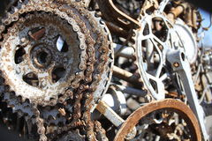 Welded bicycle parts Royalty Free Stock Image