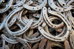 Welded horseshoes Royalty Free Stock Image