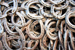 Welded horseshoes Royalty Free Stock Images