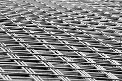 Welded mesh of steel reinforcement Royalty Free Stock Images