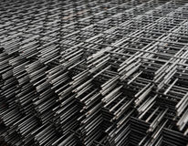 Welded metal bars background Royalty Free Stock Photography