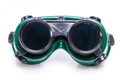 Welded protective spectacles on white background Royalty Free Stock Photos