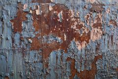 Welded sections of steel, heavy rust and peeling paint background, copy space. Horizontal aspect stock photos