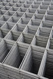 Welded steel grid. Storage of tools to build with reinforced concrete Stock Photography
