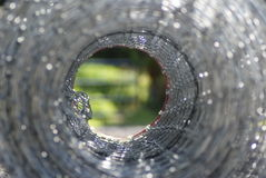 Welded Wire fencing Roll Royalty Free Stock Photos