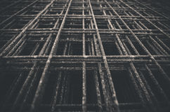 Welded wire mesh in black and white Stock Images