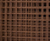 Welded wire mesh rusted Stock Images