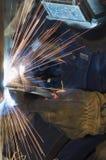 welder действия Стоковое Изображение