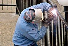 welder загородки Стоковая Фотография RF