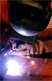 welder медной плиты Стоковые Изображения