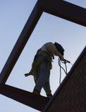 welder силуэта Стоковое фото RF