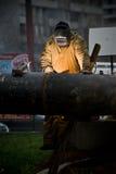 welder трубопровода Стоковое Фото