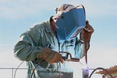 welder человека дуги Стоковые Изображения RF