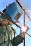 welder человека дуги Стоковые Изображения