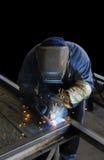 Welder. Manufacturing Welder shot in Action Stock Images