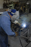 Welder. Manufacturing Welder shot in Action Royalty Free Stock Image