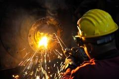 Welder. Working in a factory Stock Photos