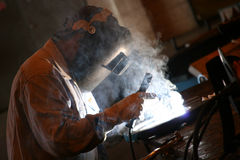 Welder. At work stock photos