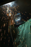 Welder at it Royalty Free Stock Photography