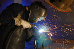 The welder Royalty Free Stock Photos