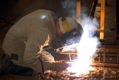 The welder stock image