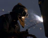 Welder. Welding at night stock images