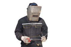 The welder. A heavy and difficult trade for the true men Stock Photo