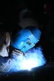 Welder. A welder is working in the workshop Royalty Free Stock Photo