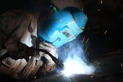 Welder. A welder  is working in the workshop Stock Photography