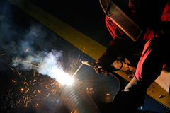 Welder in action Stock Photography