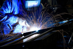 Welder in action royalty free stock photos