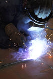 Welder in action Royalty Free Stock Photography